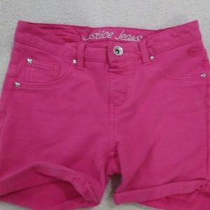Pink Justice Jeans Shorts
